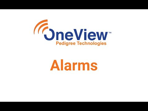 Alarms in OneView