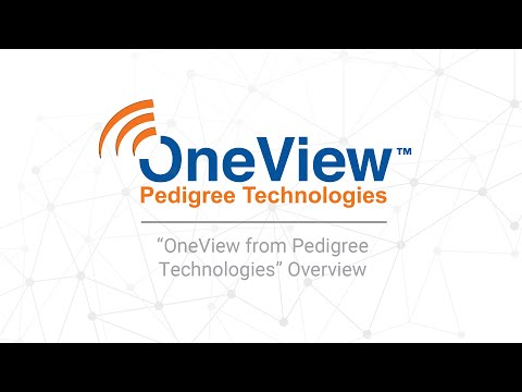 OneView by Pedigree Technologies Solutions Overview