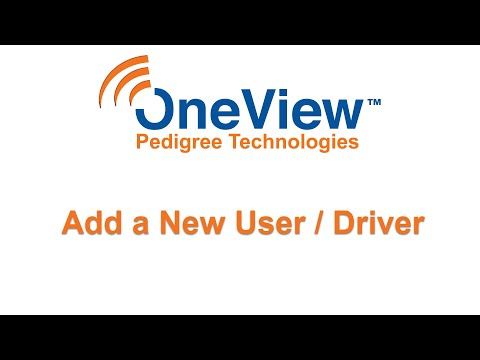 Admin How to Add Users and Drivers