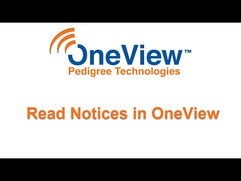 Read notices in OneView and OneView Mobile