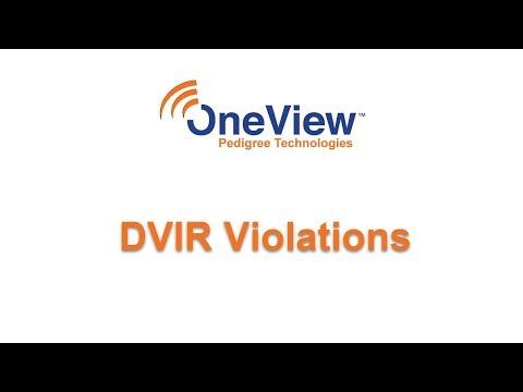 DVIR Violations in OneView