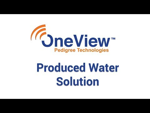 OneView's Produced Water Solution by Pedigree Technologies