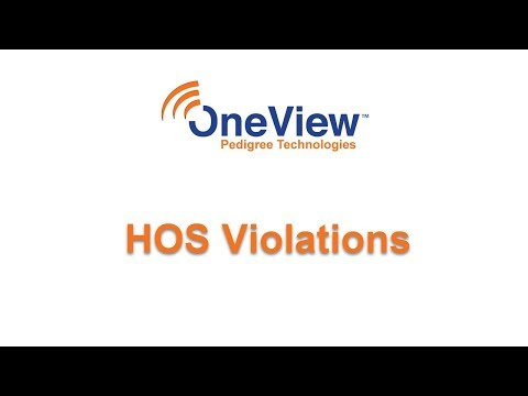 HOS Violations in OneView
