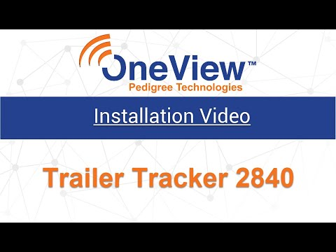 Trailer Tracker 2840 or Trailer Tracker 2830 Installation