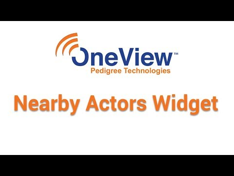 Nearby Actors Widget in OneView