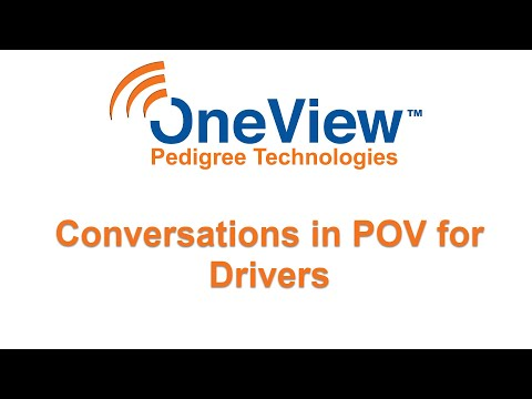 Conversations in POV for Drivers
