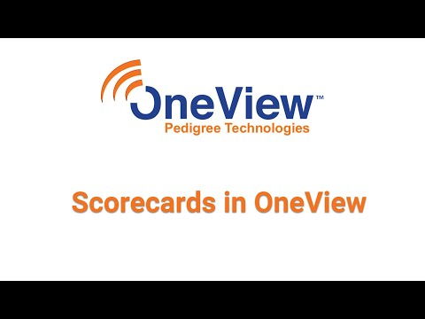 Scorecards in OneView