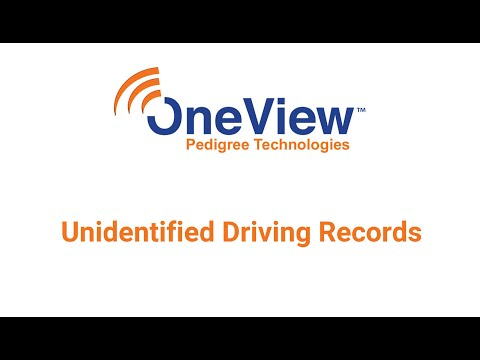 Unidentified Driving Records Manager