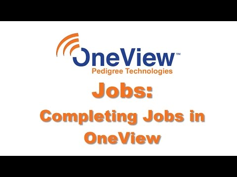 Completing Jobs in OneView