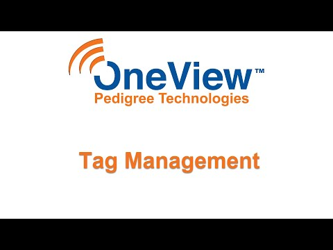 Tag Management in OneView
