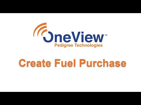 Create Fuel Purchase in OneView
