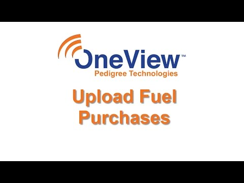 Upload Fuel Purchases in OneView