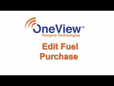 Edit Fuel Purchase(s) in OneView