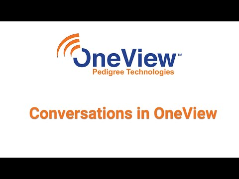 Conversations in OneView