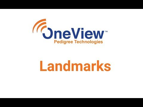 Landmarks in OneView