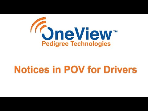 Notices in POV for drivers