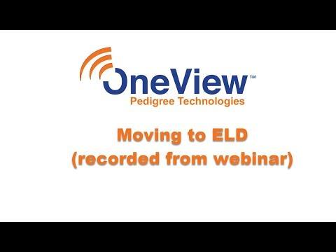 Moving To ELD webinar
