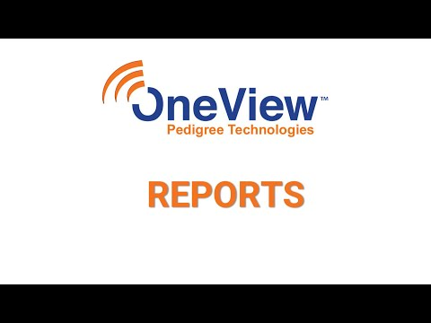 Reports in OneView