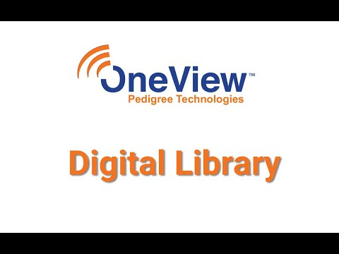 Digital Library in OneView