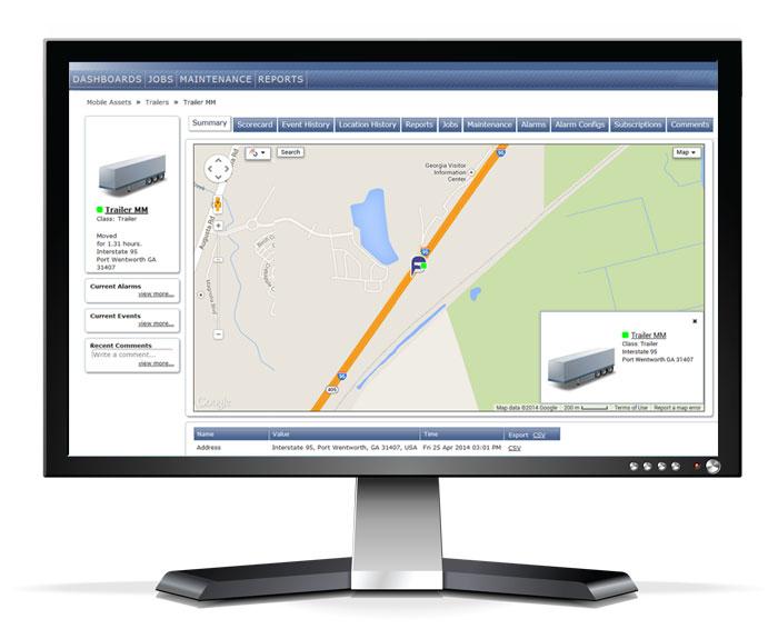 Asset Tracking Screenshot on Monitor