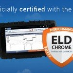 Our Cab-Mate device with FMSCA-certified ELD Chrome solution.