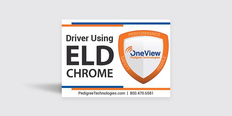 ELD Chrome cab sticker