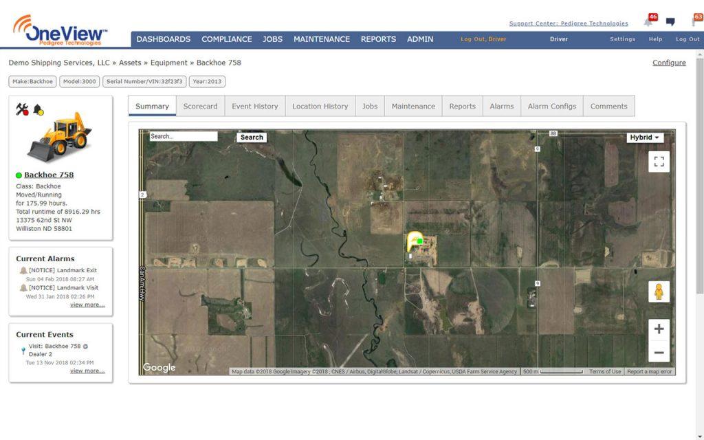 Screenshot Equipment Tracking