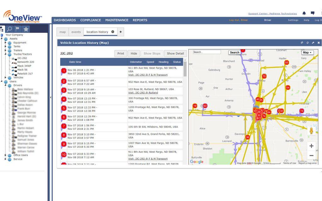 Screenshot Fleet Management