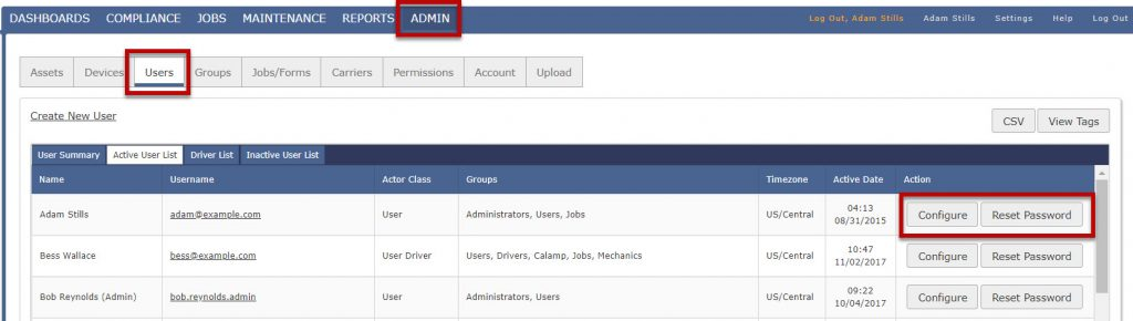 Company Admin - Managing Users - Create New Users or Drivers