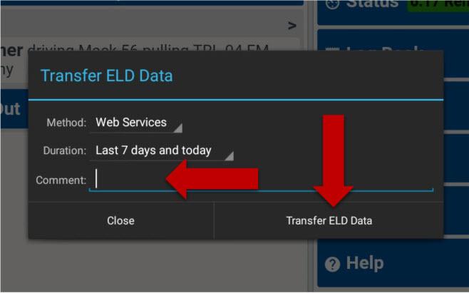 Transfer ELD Data - Transfer Driver Log Records » Pedigree