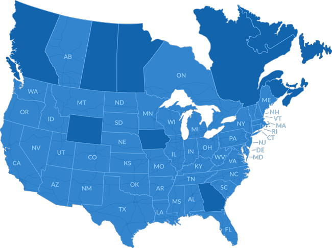 Drivewyze availability map labeled