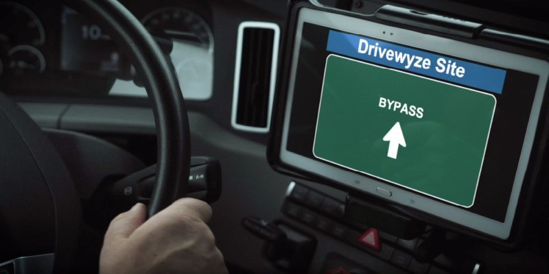 Drivewyze driver application of PreClear weigh station bypass - small